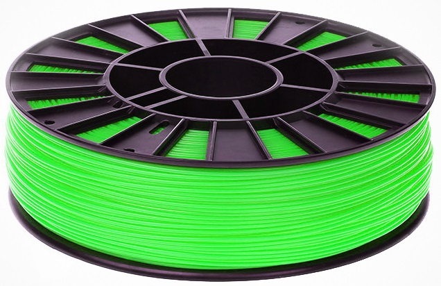 Пластик ABS зеленый (светится в темноте) 1 кг