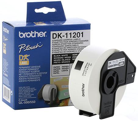 Наклейки адресные Brother DK11201
