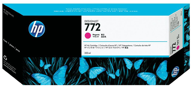 Картридж HP Pigment Ink Cartridge №772 Magenta (пурпурный) картридж hp cn631a 772 light magenta для designjet z5200 300ml