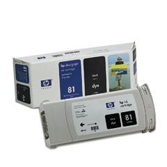 Картридж HP Inkjet Cartridge №81 Dye Black (C4930A) hp c9351ce 21xl black inkjet print cartridge