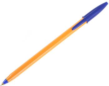 Ручка шариковая BIC Orange 0,35мм синяя (желтый корпус)