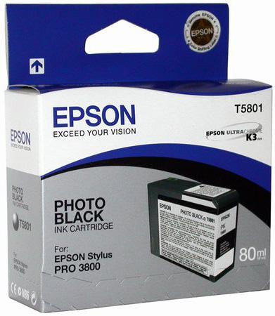 Картридж с черными фото чернилами   T5801 (C13T580100)