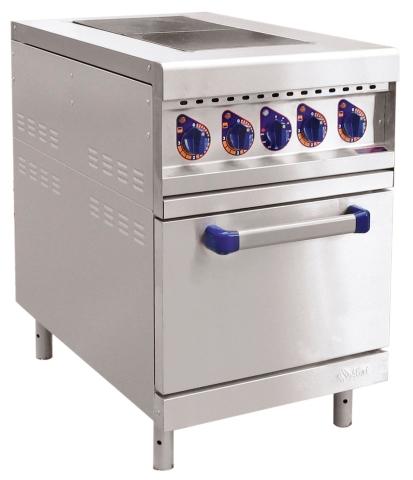ЭП-2ЖШ двухконфорочная с жарочным шкафом (лицевая нерж, серия 900) от FOROFFICE