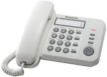 Проводной телефон_Panasonic KX-TS 2352 RUW Компания ForOffice 541.000