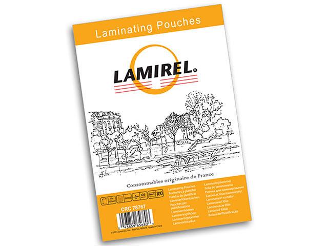 Пакетная пленка для ламинирования Lamirel A3, глянцевая, 125 мкм, 100 шт