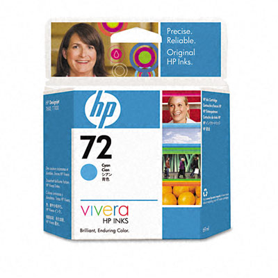 Картридж HP Pigment Ink Cartridge №72 Cyan (C9398A) картридж hp pigment ink cartridge 70 black z2100 3100 3200 c9449a