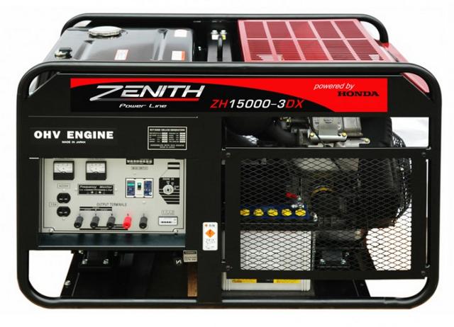 Бензиновый генератор Zenith ZH15000-3DXE