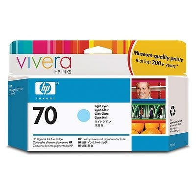 Картридж HP Pigment Ink Cartridge №70 Light Cyan (Z2100/3100) (C9390A) картридж hp pigment ink cartridge 727 cyan b3p19a