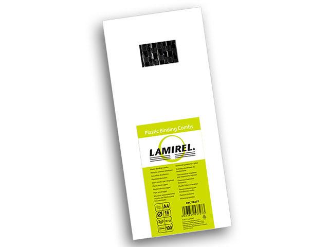Пластиковая пружина Lamirel, диаметр 16 мм, черная, 100 шт
