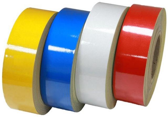 Световозвращающая лента RF4550 для столбиков ограждения красный 47.5 м