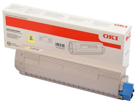 Тонер-картридж Toner-Y 7K C823/C833/C843 (46471105) тонер картридж toner m 7k c823 c833 c843 46471106