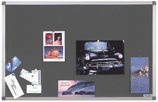 Текстильная доска Magnetoplan 60 x 45 см, серая (1460001)