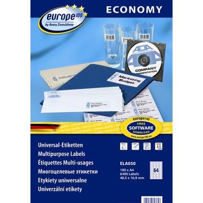 Самоклеящиеся этикетки   Europe100 ELA050
