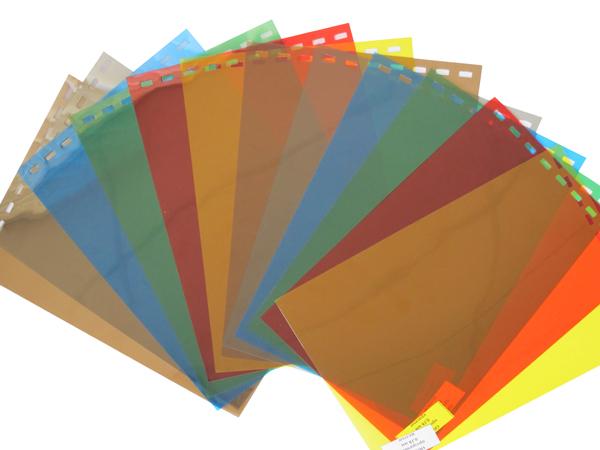 Обложки пластиковые, Прозрачные без текстуры, A4, 0.18 мм, Красный, 100 шт