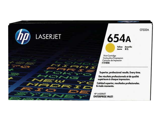 Тонер-картридж HP 654A CF332A тонер картридж для лазерных аппаратов hp 654a laserjet желтый cf332a cf332a