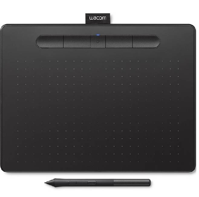 Intuos M Bluetooth, черный (CTL-6100WLK-N) графический планшет wacom intuos art pen