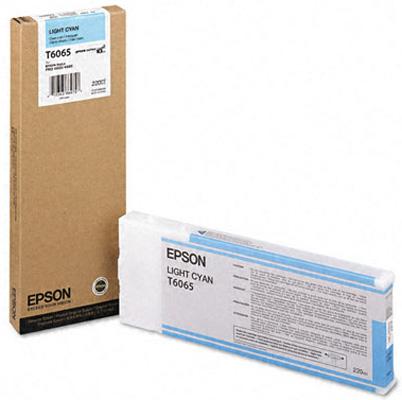 Картридж со светло-голубыми чернилами T6065 (C13T606500) картридж c13t606900 epson для stylus pro 4880 220 мл светло светло черный c13t606900