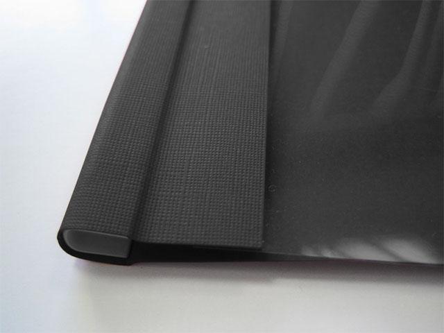 Мягкие обложки C-BIND A4 O.SOFTCLEAR AA (5 мм) с текстурой «лен», черные
