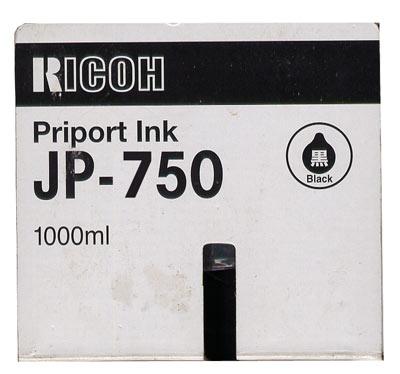 Краска черная Ricoh JP 750 (CPI-10), 500мл
