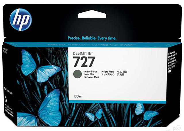 Картридж HP Pigment Ink Cartridge №727 Matte Black (B3P22A) картридж hp pigment ink cartridge 72 matte black c9403a