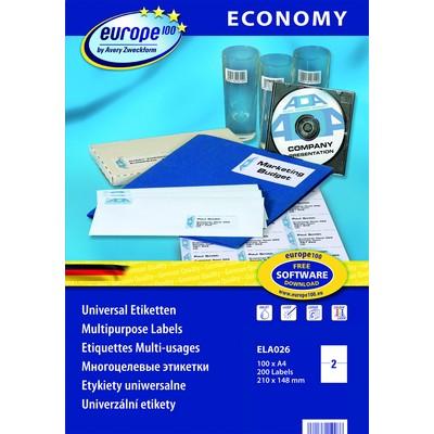 Самоклеящиеся этикетки Europe100 ELA026 этикетки универсальные qp 38x21 2 мм ij l k 3666