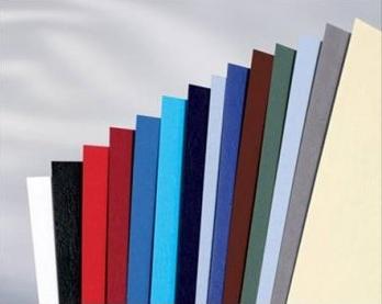 Обложка картонная, Кожа, A4, 230 г/м2, Синий, 100 шт