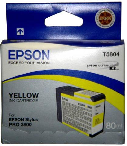 Картридж Epson C13T580400 Yellow