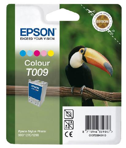 Цветной картридж T009 для SP1270 (C13T00940110) картридж c13t00940110 epson для stylus photo 1270 1290 900 цветной c13t00940110