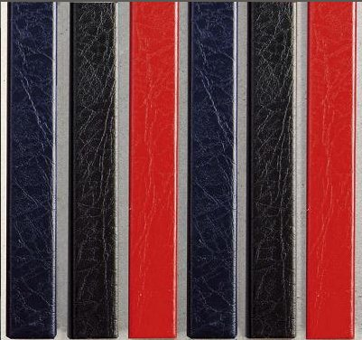 Цветные каналы с покрытием «кожа» O.CHANNEL Mundial А4 304 мм 24 мм, синие