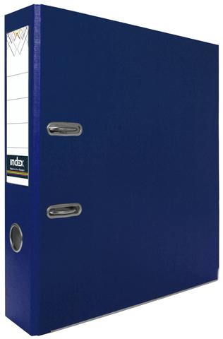Папка-регистратор Index 80 мм, PVC, темно-синяя, с металлической окантовкой и кармашком Компания ForOffice 74.000