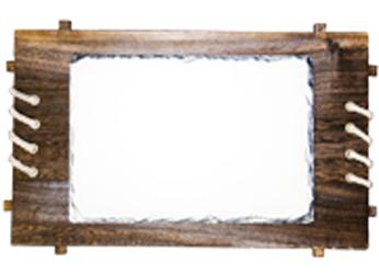 Фотокамень с деревянной рамкой от FOROFFICE