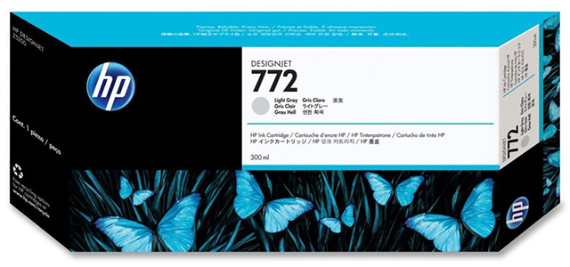 цена на Картридж HP Pigment Ink Cartridge №772 Light Gray (светло-серый)