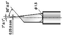 Нож ZEC-U5025 универсальный (угол 45) для плоттеров   (оригинальный)
