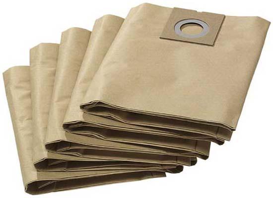 Бумажные фильтр мешки (двухслойные) для пылесоса Karcher NT 27/1