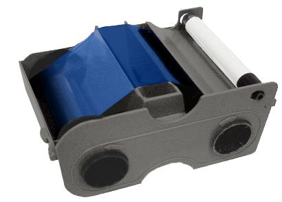 Картридж с лентой и чистящим валиком синяя лента   45103