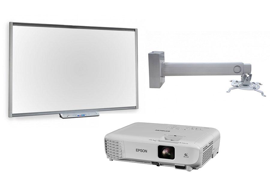 Интерактивная доска   SBM685 в комплекте с проектором Epson EB-W05 и креплением Digis DSM-14Kw объективы для проектора epson среднефокусный объектив для серии eb z8000 v12h00