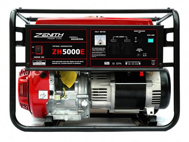 Бензиновый генератор_Zenith ZH5000E