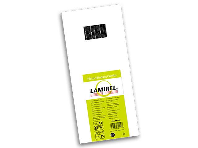 Пластиковая пружина Lamirel, диаметр 32 мм, черная, 25 шт