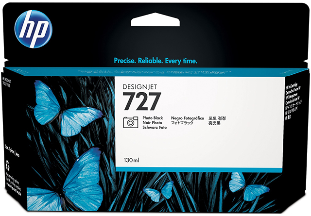 Картридж HP Pigment Ink Cartridge №727 Photo Black (B3P23A) картридж hp pigment ink cartridge 727 cyan b3p19a
