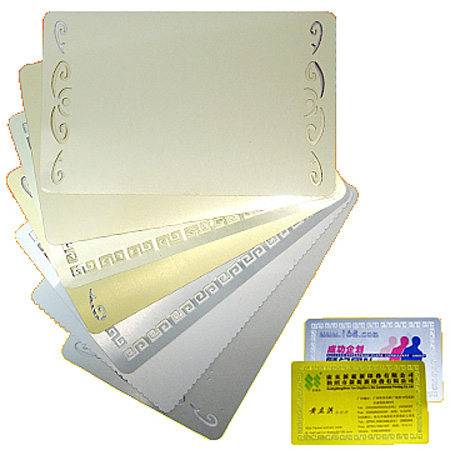 Металлическая заготовка JSMP для визитной карточки