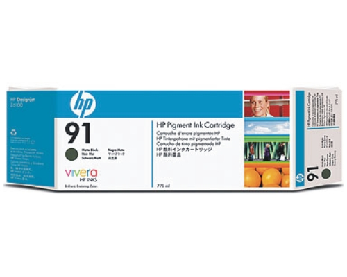 Картридж HP Pigment Ink Cartridge HP 91 Matte Black (C9464A) картридж hp pigment ink cartridge 72 matte black c9403a
