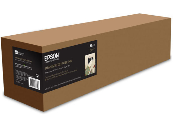 Рулонная бумага_Epson Japanese Kozo Paper Thin 24, 610мм x 10м (34 г/м2) (C13S045600)