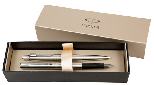 Набор Parker Jotter Stainless Steel CT шариковая ручка parker jotter цвет металлик 1005112