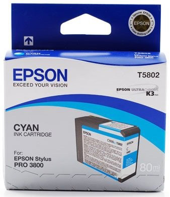Картридж с голубыми чернилами T5802 (C13T580200) new and original ink system assy tank supply for epson pro 3890 3850 3800 3880 holder with tube