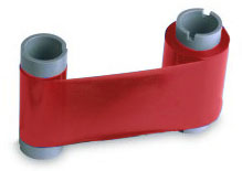 Картридж с лентой и чистящим валиком красная лента 45205