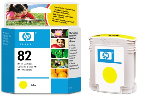 Картридж HP Inkjet Cartridge №82 Yellow (C4913A) hp c4913a