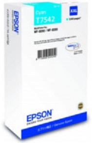 Картридж экстраповышенной емкости с голубыми чернилами T7542 для WF-8090, 8590 (C13T754240) цены онлайн