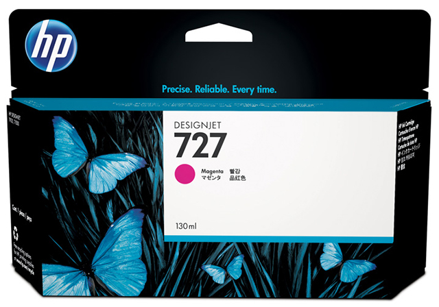 Картридж HP Pigment Ink Cartridge №727 Magenta (пурпурный) картридж hp pigment ink cartridge 727 cyan b3p19a