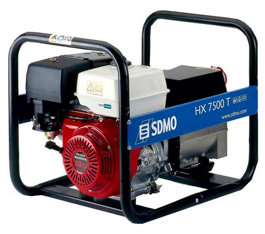 Бензиновый генератор_SDMO HX 7500 T-S