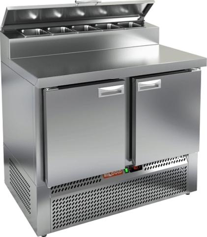Стол охлаждаемый для пиццы_HICOLD PZE2-11/GN (1/6)